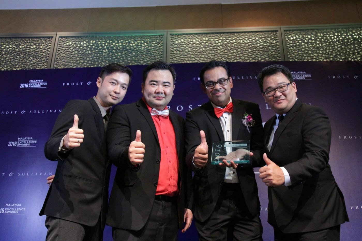 Low Han Ben (Head of Sales, redONE); Ben Teh (CSO, redONE); Ameen Abdullah (CEO, redONE); Tee Yew Yaw (COO, redONE)